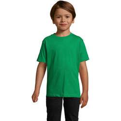 Textil Děti Trička s krátkým rukávem Sols Camista infantil color Verde Pradera Verde