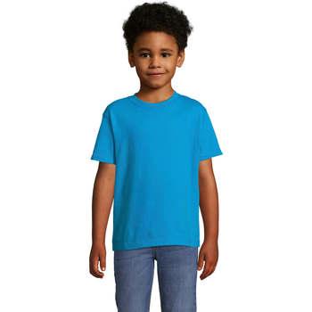 Textil Děti Trička s krátkým rukávem Sols Camista infantil color Aqua Azul