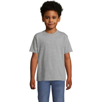 Textil Děti Trička s krátkým rukávem Sols Camista infantil color Gris Gris