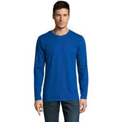 Textil Muži Trička s dlouhými rukávy Sols Camiseta manga larga Azul