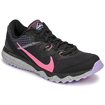 Boty Ženy Běžecké / Krosové boty Nike WMNS NIKE JUNIPER TRAIL Černá / Růžová