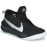 Boty Děti Kotníkové tenisky Nike TEAM HUSTLE D 10 (GS) Černá / Stříbřitá