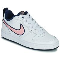 Boty Děti Nízké tenisky Nike COURT BOROUGH LOW 2 SE1 (GS) Bílá / Růžová