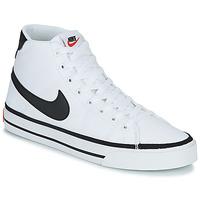 Boty Muži Kotníkové tenisky Nike NIKE COURT LEGACY CNVS MID Bílá / Černá