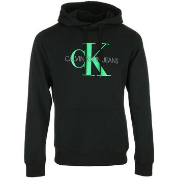 Textil Muži Mikiny Calvin Klein Jeans Vertical Logo Hoodie Černá
