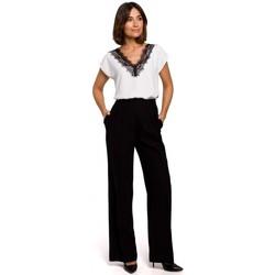 Textil Ženy Halenky / Blůzy Style S206 Top bez rukávů s krajkovým výstřihem - béžový