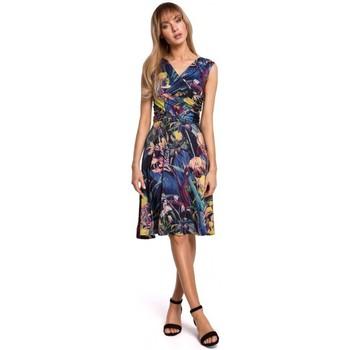 Textil Ženy Krátké šaty Moe M499 Šaty ve fitted střihu s potiskem - model 1
