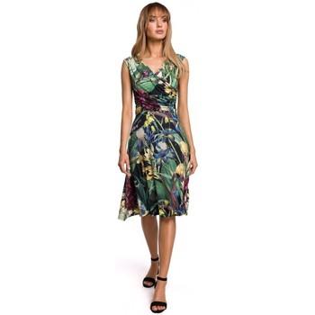 Textil Ženy Krátké šaty Moe M499 Šaty s potiskem - model 2