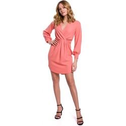 Textil Ženy Krátké šaty Makover K044 Přehozené šaty - oranžové