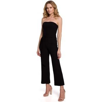 Textil Ženy Overaly / Kalhoty s laclem Makover K045 Kombinéza Bandeau top - černá