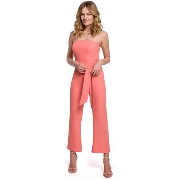 Textil Ženy Overaly / Kalhoty s laclem Makover K045 Kombinéza Bandeau top - oranžová