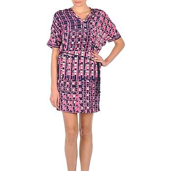 Textil Ženy Krátké šaty Stella Forest YRO059 Tmavě modrá / Růžová