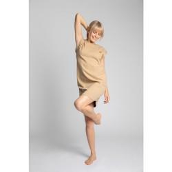Textil Ženy Krátké šaty Lalupa LA033 Bavlněné žebrované šaty na spaní - cappuccino