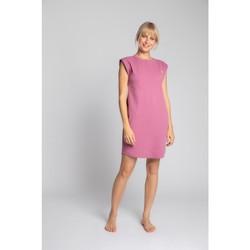 Textil Ženy Krátké šaty Lalupa LA033 Bavlněné žebrované šaty na spaní - heather