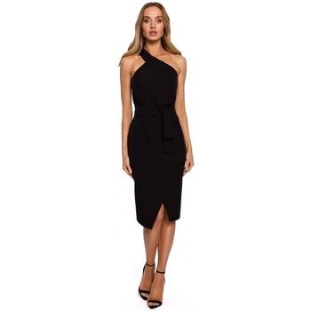 Textil Ženy Společenské šaty Moe M572 Šaty na jedno ramínko - černé