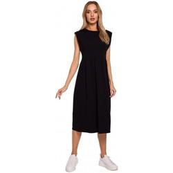 Textil Ženy Společenské šaty Moe M581 Šaty bez rukávů s vysokým pasem - černé
