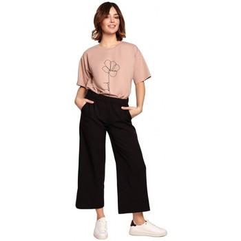 Textil Ženy Turecké kalhoty / Harémky Be B188 Kalhoty s elastickým pasem - černé