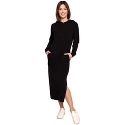Textil Ženy Společenské šaty Be B197 Midi šaty s kapucí - krémové