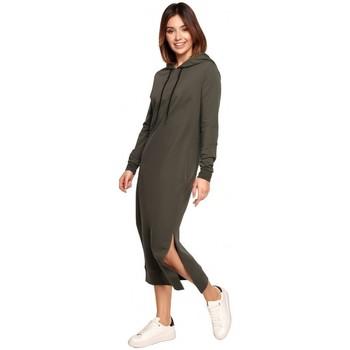 Textil Ženy Společenské šaty Be B197 Midi šaty s kapucí - mocca