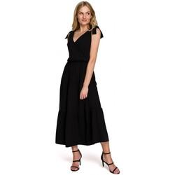 Textil Ženy Společenské šaty Makover K092 Šaty na ramínka - levandulová barva
