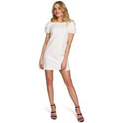 Textil Ženy Krátké šaty Makover K095 Mini šaty s pouzdrovými rukávy - tmavě modré