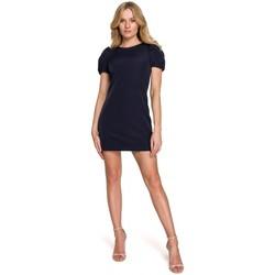 Textil Ženy Krátké šaty Makover K096 Mini šaty se zavinovacím vrškem - model 1