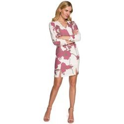 Textil Ženy Krátké šaty Makover K096 Mini šaty se zavinovacím vrškem - model 3