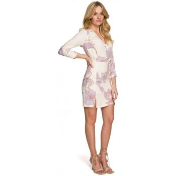 Textil Ženy Krátké šaty Makover K097 Dámské šaty s opaskem - model 1