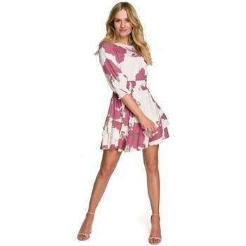 Textil Ženy Krátké šaty Makover K097 Dámské šaty s opaskem - model 2