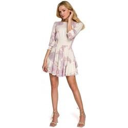 Textil Ženy Krátké šaty Makover K097 Dámské šaty s opaskem - model 3