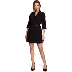 Textil Ženy Krátké šaty Style S254 Blejzrové šaty s páskem s přezkou - zelené