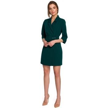 Textil Ženy Krátké šaty Style S254 Sako s páskem s přezkou - královská modř
