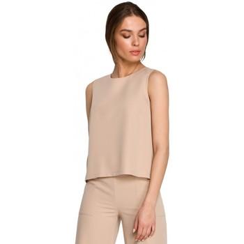Textil Ženy Halenky / Blůzy Style S257 Halenka bez rukávů - černá