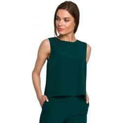 Textil Ženy Halenky / Blůzy Style S257 Halenka bez rukávů - královská modř