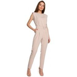 Textil Ženy Overaly / Kalhoty s laclem Style S259 Kombinéza bez rukávů s vycpanými rameny - černá