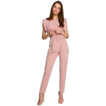Textil Ženy Overaly / Kalhoty s laclem Style S260 Halenka bez rukávů s vycpanými rameny - černá