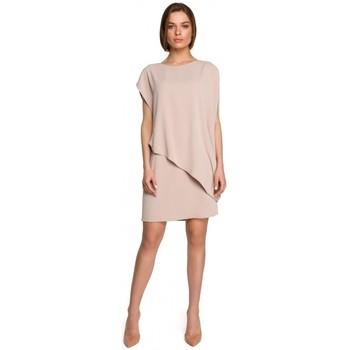 Textil Ženy Krátké šaty Style S262 Vrstvené šaty - béžové
