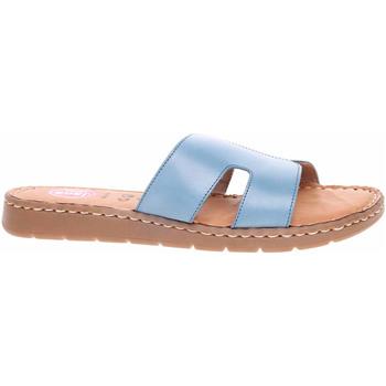 Boty Ženy Dřeváky Jana Dámské pantofle  8-27115-26 lt. blue Modrá