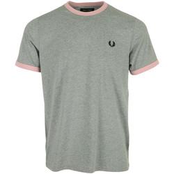 Textil Muži Trička s krátkým rukávem Fred Perry Ringer T-Shirt Šedá
