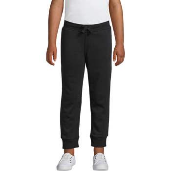 Textil Děti Teplákové kalhoty Sols PANTALONES DE JOGGING CORTE AJUSTADO Negro