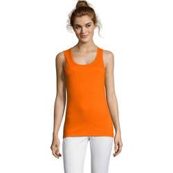 Textil Ženy Tílka / Trička bez rukávů  Sols Jane - CAMISETA MUJER SIN MANGAS Naranja