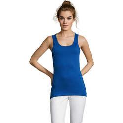 Textil Ženy Tílka / Trička bez rukávů  Sols Jane - CAMISETA MUJER SIN MANGAS Azul