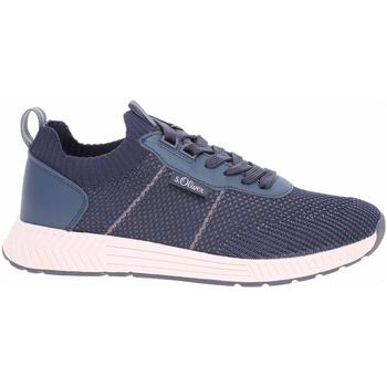 Boty Muži Nízké tenisky S.Oliver Pánská obuv  5-13603-26 navy Modrá