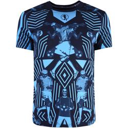 Textil Muži Trička s krátkým rukávem Bikkembergs  Modrá