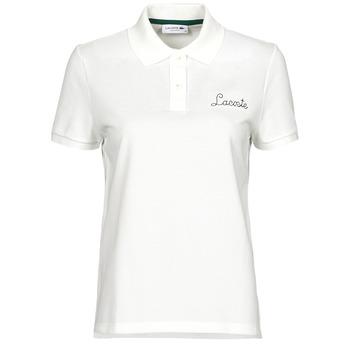 Textil Ženy Polo s krátkými rukávy Lacoste PF7251 Bílá