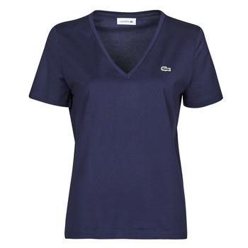 Textil Ženy Trička s krátkým rukávem Lacoste LOUIS Tmavě modrá