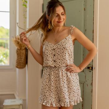 Textil Ženy Overaly / Kalhoty s laclem Céleste NEROLI Krémově bílá