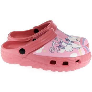 Boty Dívčí Pantofle John-C Detské svetlo-ružové crocsy ALONG HOSIA ružová