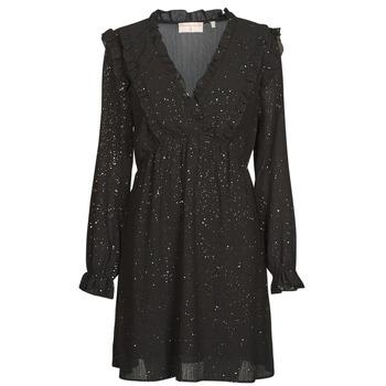 Textil Ženy Krátké šaty Moony Mood PABBARETZE Černá