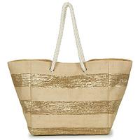 Taška Ženy Velké kabelky / Nákupní tašky Betty London  Béžová / Zlatá